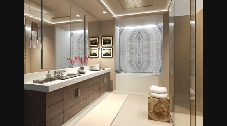 Baño De Lujo Pequeno:Diseño de cuarto de baño de lujo de color beige