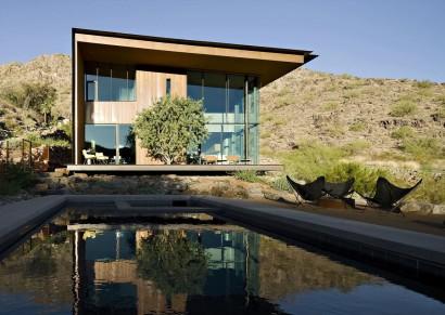 Fachada moderna de casa de dos pisos 4