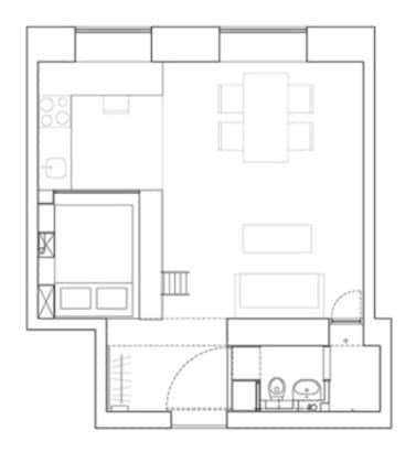 Plano de apartamento pequeño
