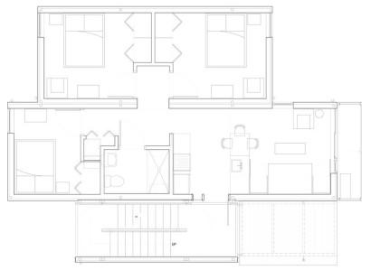 Plano de casa modular pequeña