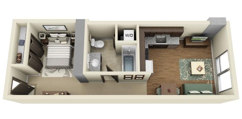 Planos De Apartamentos Pequenos De Un Dormitorio Disenos Construye Hogar