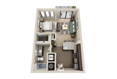 Plano de departamento pequeño Gateway Apartments