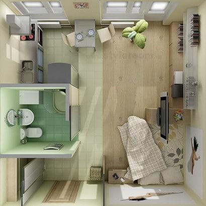 Plano de departamento pequeño  Styleroom
