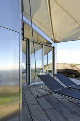 Terraza con techo de tela