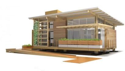Diseño de casa de madera especial para mayores de edad