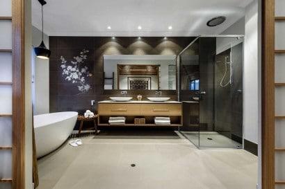 Diseño de cuarto de baño oriental