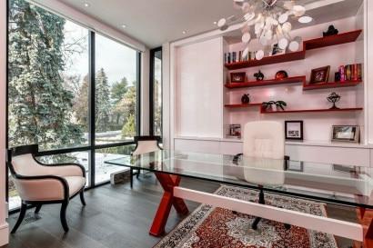 Diseño de cuarto de estudio moderno