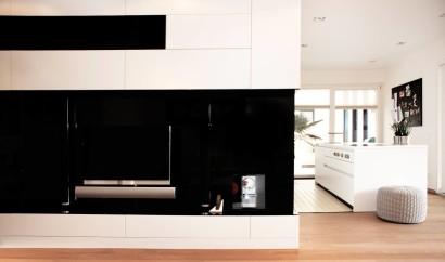 Diseño de interiores de muebles blancos