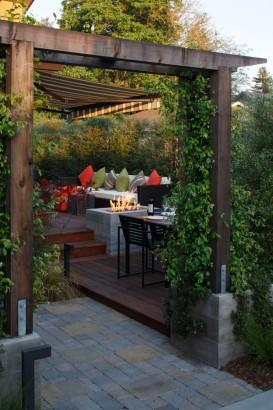Diseño de terraza de casa de una planta