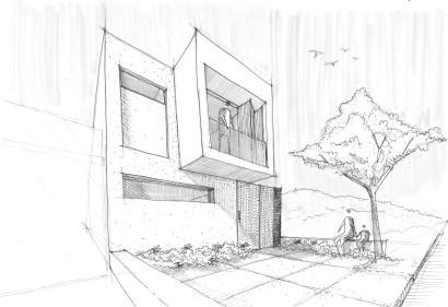 Gráfico de casa sencilla de dos niveles