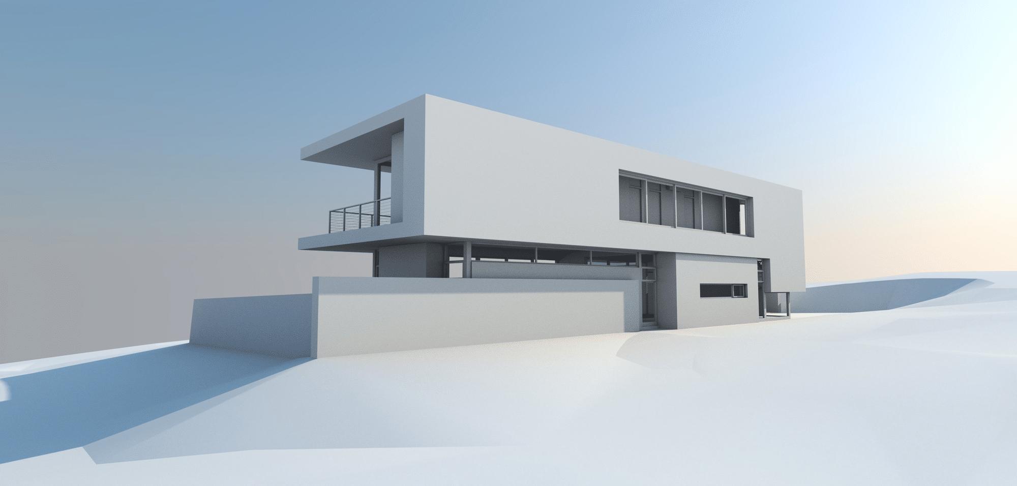 Maqueta De Moderna Casa De Dos Pisos Construye Hogar
