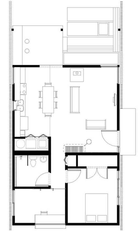 Plano de casa peque a construye hogar for Construye hogar