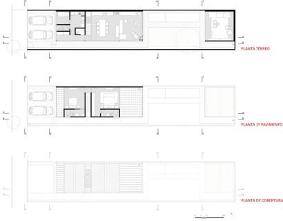 Planos de casa angosta y delgada