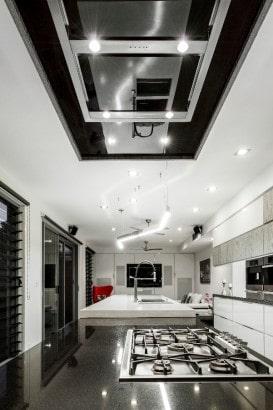 Decoración de interiores de cocina moderna