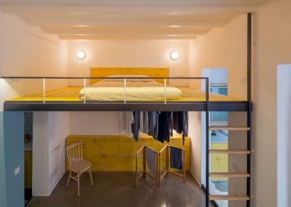 Diseño de cama en mezzanine