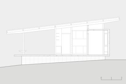 Plano de elevación de casa pequeña de madera
