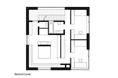 Plano del segundo piso de la casa