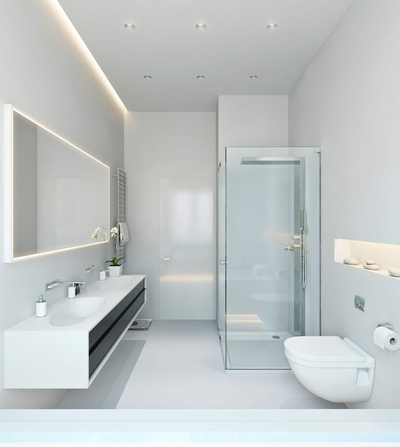 Iluminacion Baño Moderno:Cuartos De Bano Modernos