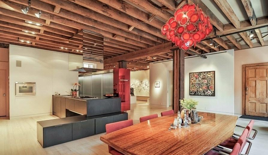decoracion interiores departamentos rusticos:Diseño de departamento rectangular con planos, decoración combina lo