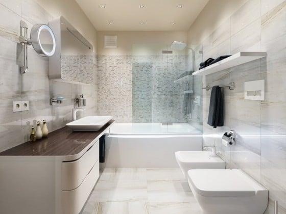 Decoración de cuarto de baño moderno