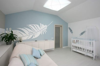 Decoración de interiores de dormitorio para bebe