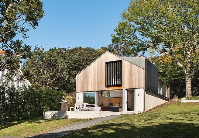 diseo de fachada principal y de perfil de casa de campo with diseo casa de campo