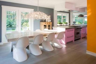Diseño de cocina con comedor arte