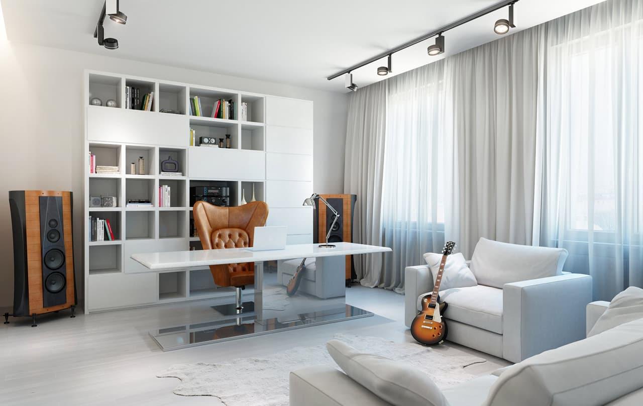 Dise o de cuarto de estudio para j venes construye hogar for Cuarto de estudio