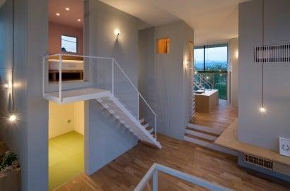 Diseño de interiores casa techos altos