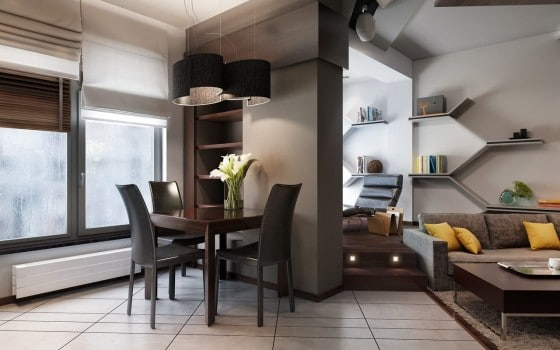 Diseño de pequeño comedor de casa moderna