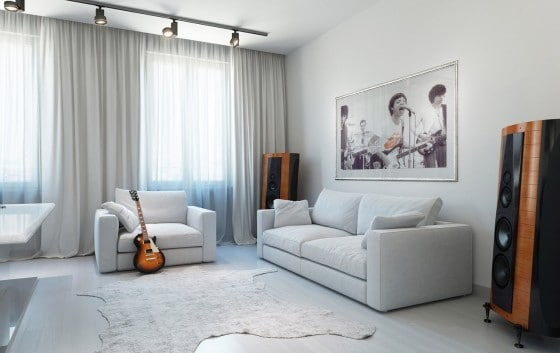 Diseño y decoración de sala casual juvenil