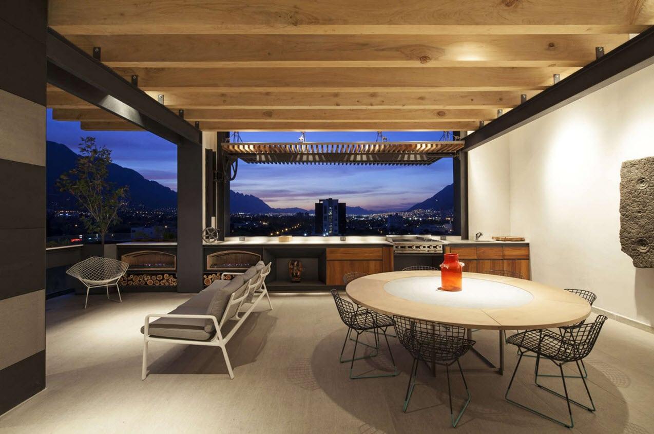 Dise o de departamento de dos pisos de lujo construye hogar for Diseno techos para terrazas