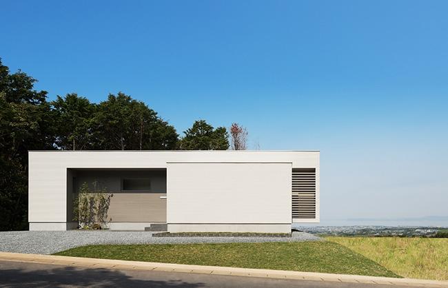 Dise o de moderna casa de un piso planos construye hogar for Casa minimalista un nivel