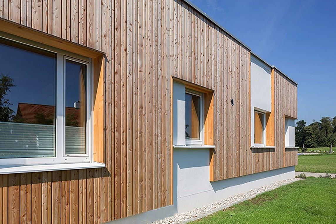 Plano de casa de una planta con fachadas construye hogar - Materiales de construccion para fachadas ...
