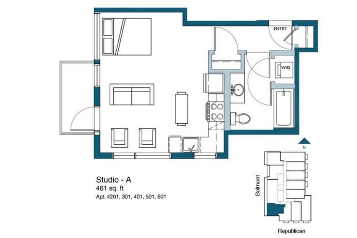 Dise o de planos departamentos peque os construye hogar for Edificio de departamentos planos