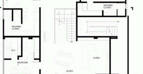 Plano del segundo piso de departamento duplex