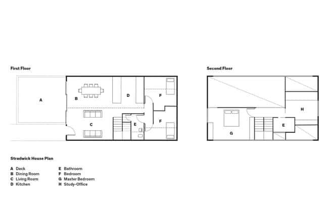 Dise o de moderna casa de campo dos pisos construye hogar for Planos de oficinas modernas