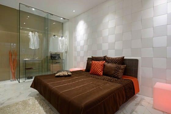 Decoración de dormitorio moderno de departamento