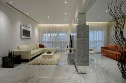 Decoración de interiores de sala de apartamento
