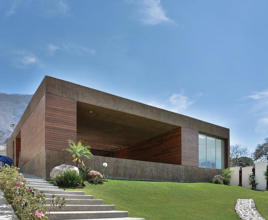 Dise o de casa cuadrada con planos y fachadas construye for Mejores fachadas de casas modernas