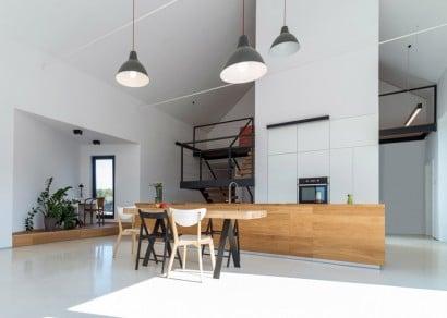 Diseño de cocina con isla de casa de campo