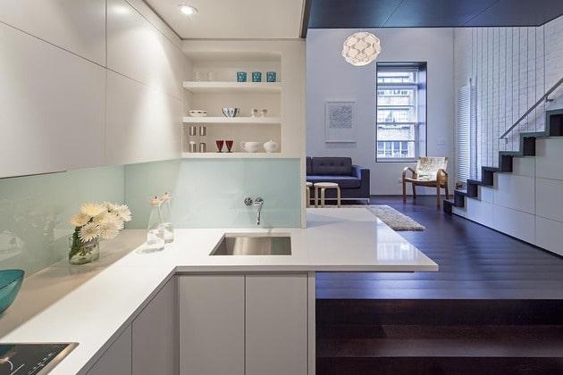 Dise o de mini departamento moderno construye hogar for Cocinas en departamentos pequenos