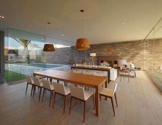 Diseño de comedor de casa de playa