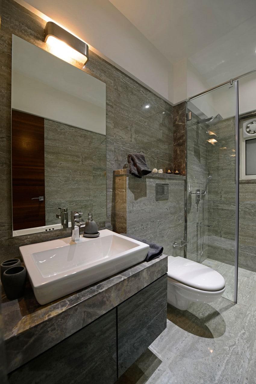 Plano y dise o de interiores departamento construye hogar - Cuartos de bano con estilo ...