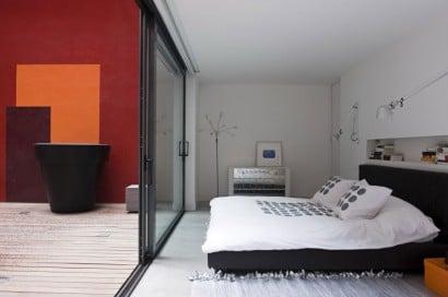 Diseño de dormitorio estilo juvenil}