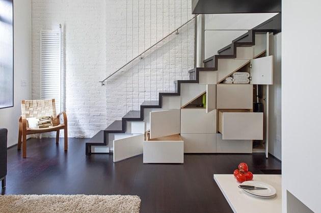diseo de escaleras con cajones debajo with escaleras de interior para espacios reducidos