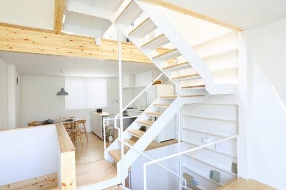 Diseño de escaleras metálicas de casa prefabricada