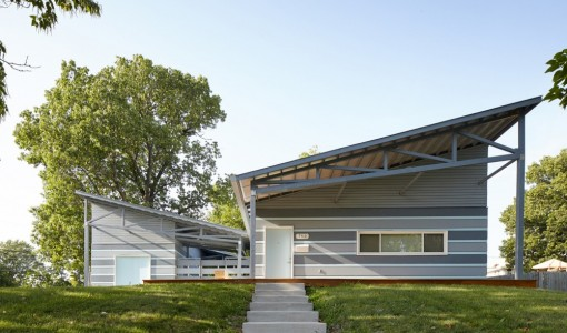 Diseño de fachada de casa auto sustentable