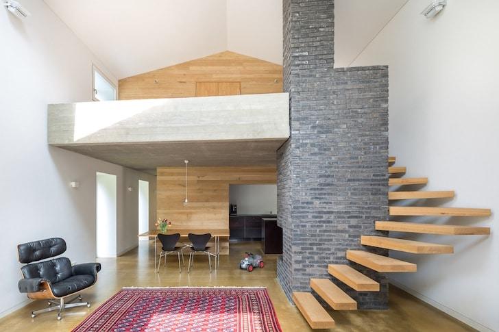 Dise o casa de campo peque a planos fachadas - Escaleras para casas modernas ...