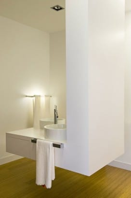 Diseño de lavabo flotante
